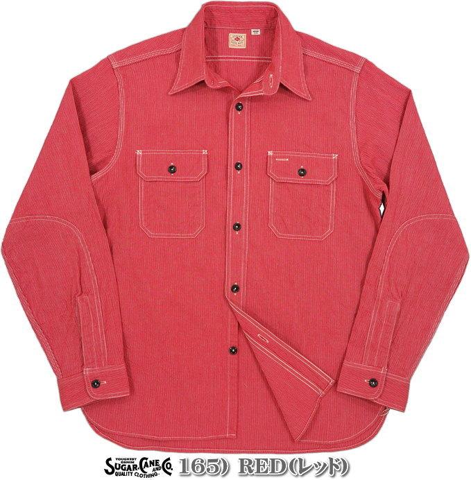 SUGAR CANE,シュガーケーン,JEAN CORD L/S WORK SHIRT,ジーンコードストライプ、長袖ワークシャツ,SC25511