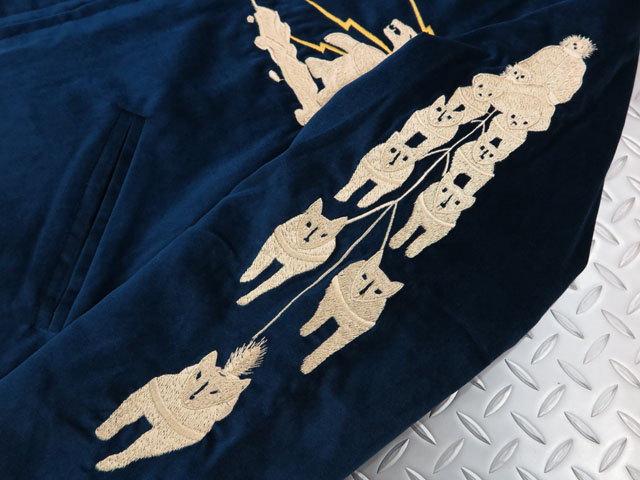 "TAILOR TOYO,テーラートーヨー,Late 1950s Style VELVETEEN SOUVENIR JACKETS,""ALASKAN EAGLE""דALASKA MAP""別珍×サテンキルト、リバーシブル・スカジャン,アラスカ スカジャン,ベッチンスカジャン,TT14467"