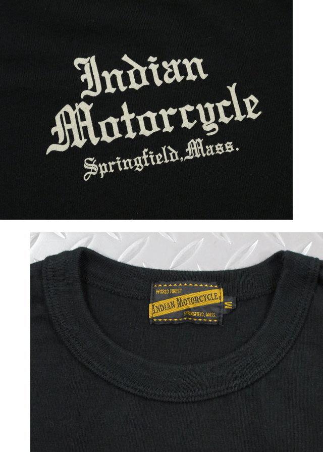 """着心地満点♪アメリカンカジュアルの王道〜INDIAN MOTORCYCLE,インディアンモーターサイクル,S/S T-SHIRT""""THE IRON HORSE"""",半袖バックプリントTシャツ,カットソー,IM78267,BLACK(ブラック)"""