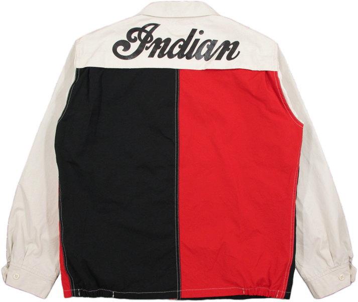 シンプルなデザインで大人のカジュアルスタイルにピッタリ★INDIAN MOTORCYCLE,インディアンモーターサイクル,COTTON SPORT JACKET,バックプリント入り、コットンスポーツジャケット,スウィングトップ,IM14358,CRAZY(クレイジー)