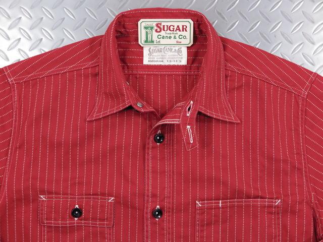 SUGAR CANE,シュガーケーン,FICTION ROMANCE,8.5oz. RED WABASH STRIPE WORK SHIRT,フィクションロマンス・8.5オンス・レッドウォバッシュストライプ ワークシャツ,A/RED(レッド),SC28340