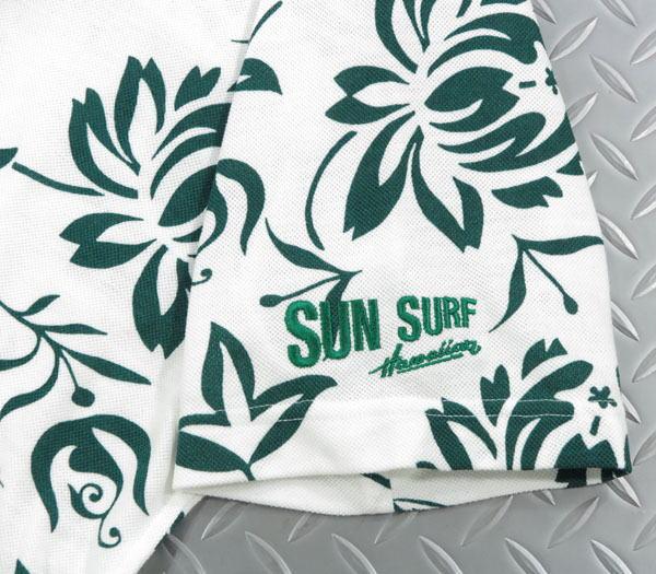 "SUN SURF,サンサーフ,COOLMAX PULLOVER BUTTON DOWN SHIRT""ISLAND PAREU FLOWER"",クールマックス プルオーバーボタンダウンシャツ,鹿の子ポロシャツ,ハワイアンポロシャツ,SS78724,OFF WHITE(オフホワイト)"