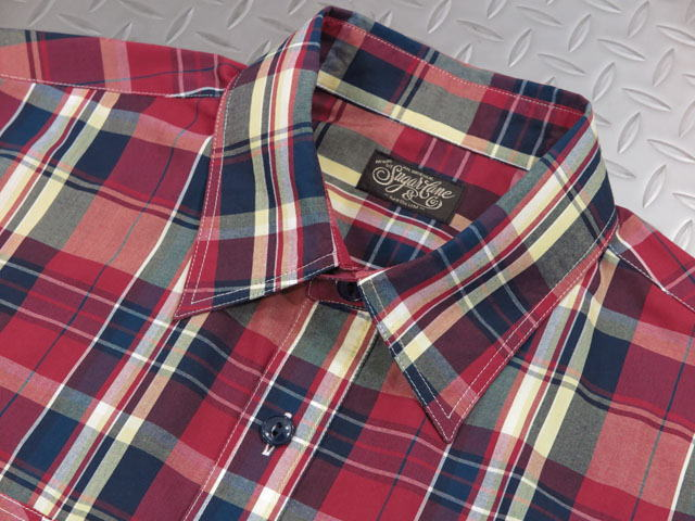 SUGAR CANE,シュガーケーン,MADRAS CHECK L/S WORK SHIRT,マドラスチェック長袖シャツ,マドラスチェックシャツ,SC28645,RED(レッド)