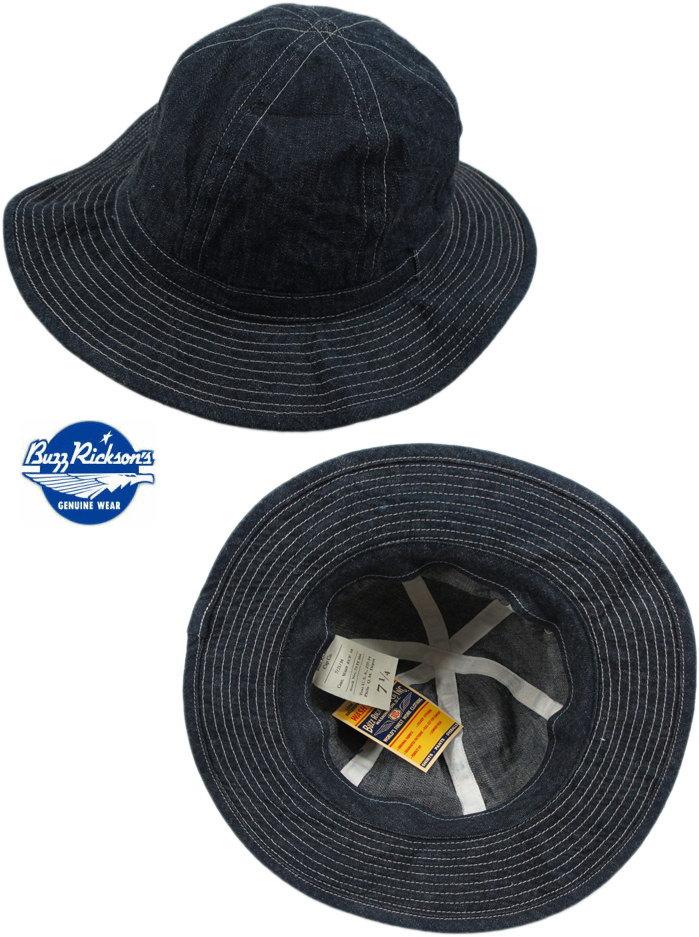 帽子にさえ、クラフトマンシップを込めた、バズリクソンズの本格派デニムハット★BUZZRICKSON'S,バズリクソンズ,HAT,WORKING,DENIM,デニム・ワーキングハット,A/NAVY(ワンウォッシュネイビー),BR01476