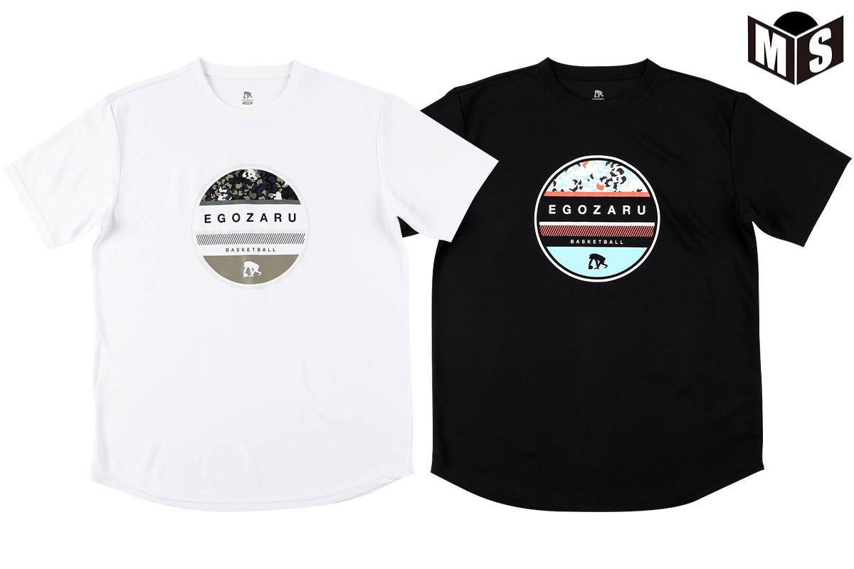 2021春夏モデル【2色展開】エゴザル EGOZARU バスケ tシャツ CIRCLE LEOPARD Tシャツ【EZST-2104】