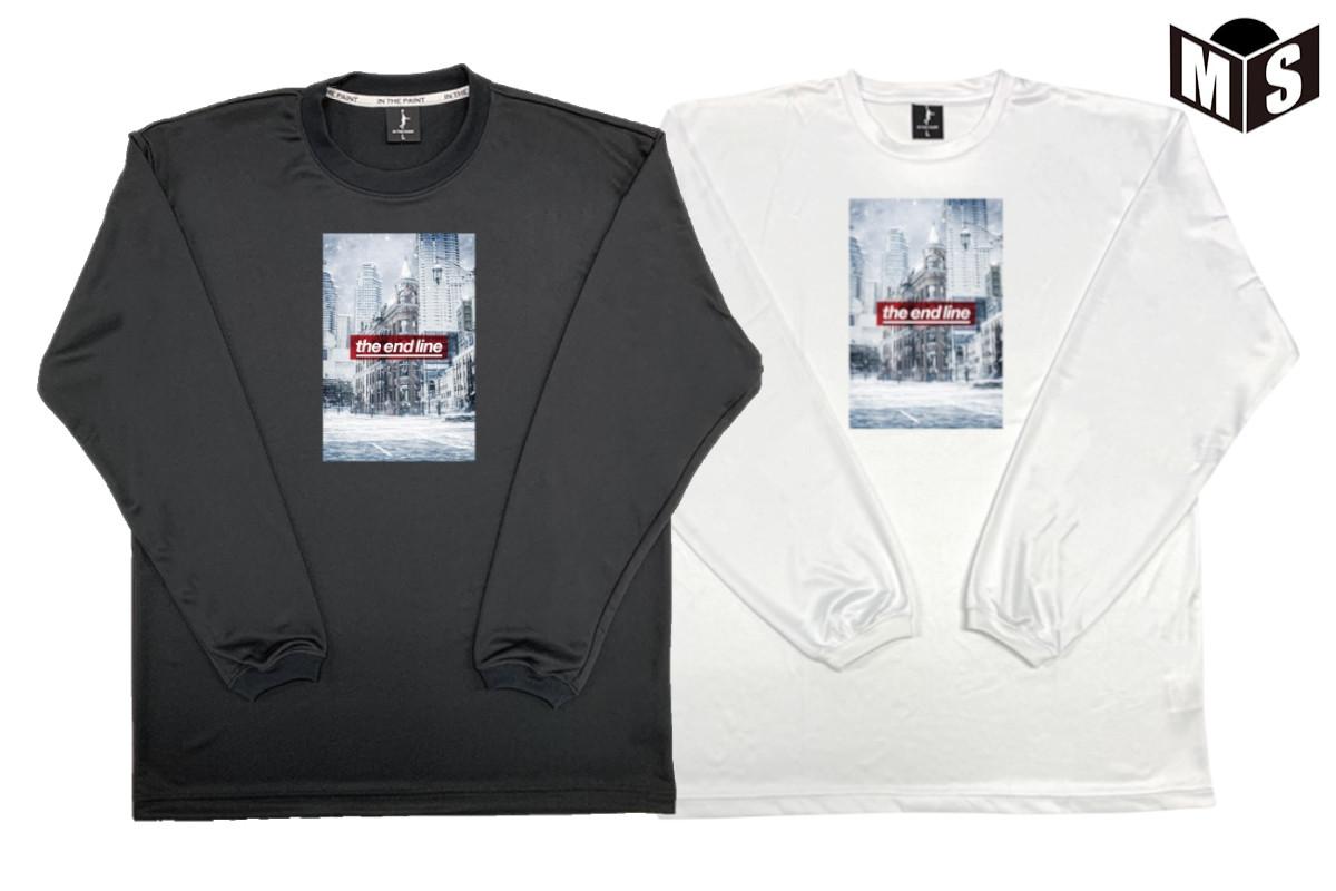 【2色展開】インザペイント×ザエンドライン IN THE PAINT×the end line バスケ ロンt WHITE WORLD ロングTシャツ【EL-2021】