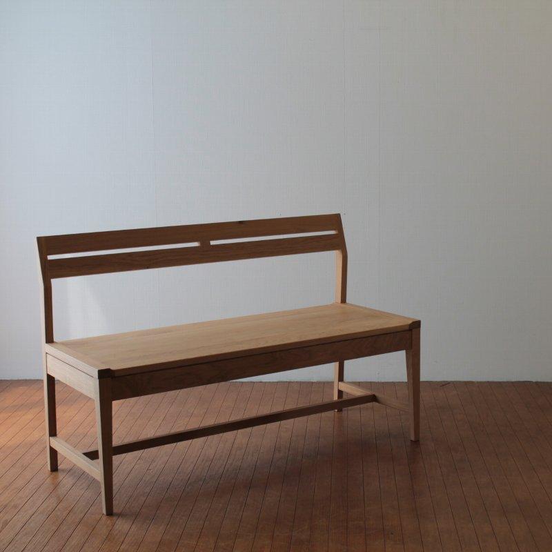 無印良品 無垢材テーブルベンチ・オーク材の画像