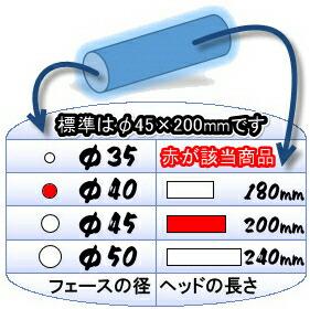 こちらの商品はステンレスヘッドφ40×200mmのゲートボールヘッドです。