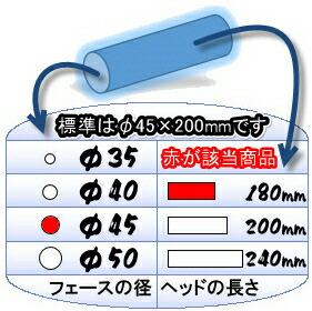 こちらの商品はステンレスヘッドφ45×180mmのゲートボールヘッドです。