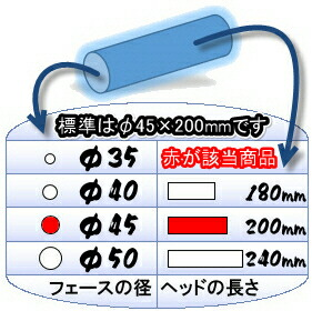 こちらの商品はアルミヘッドφ45×200mmのゲートボールヘッドです。