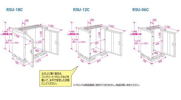 こめっ庫天板開閉タイプ RSU-18C