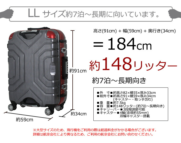 サイズ 大きさ 長さ 幅 厚み 148L 150L 145L