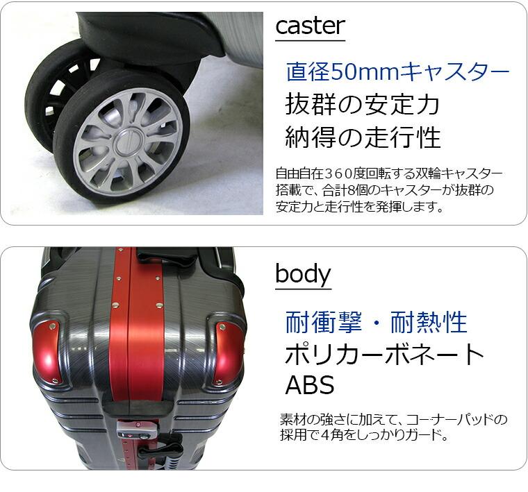 双輪キャスター ポリカーボネート ABS 強い素材