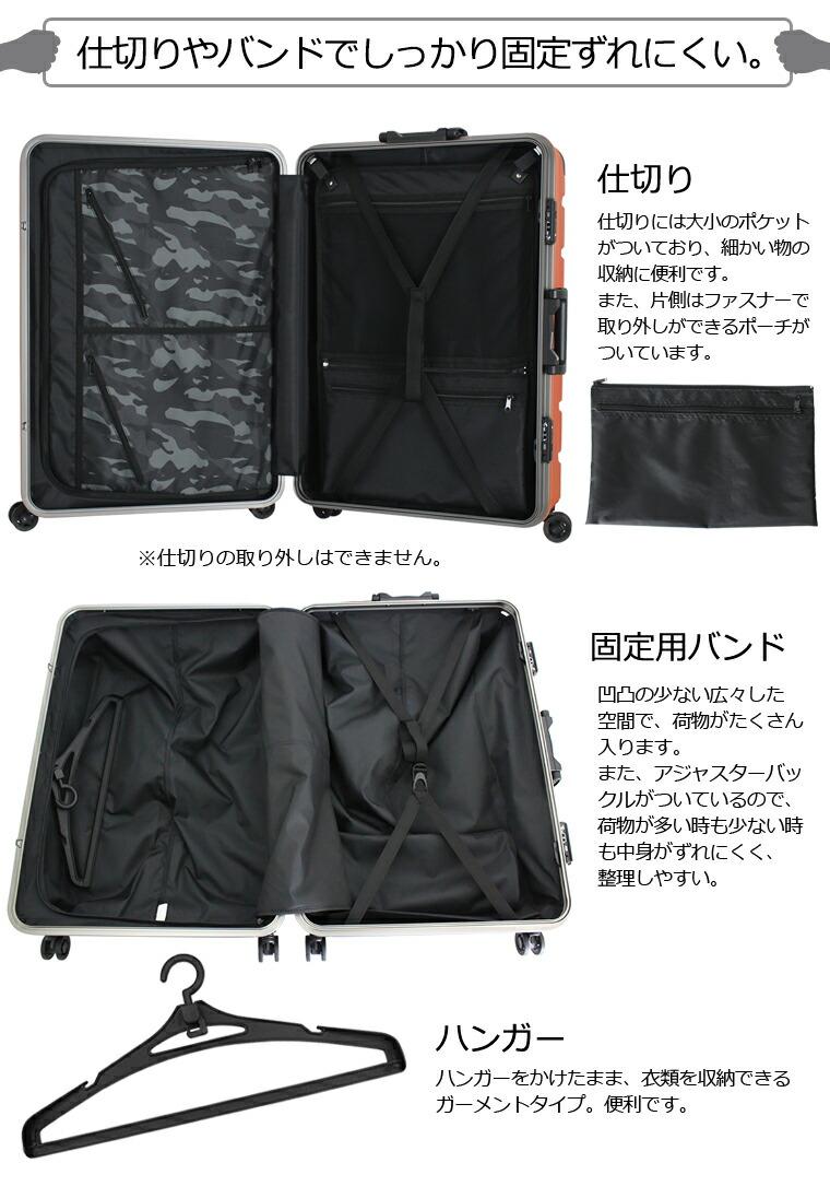 インサイド 内装 内側 スーツケースの中 バックル