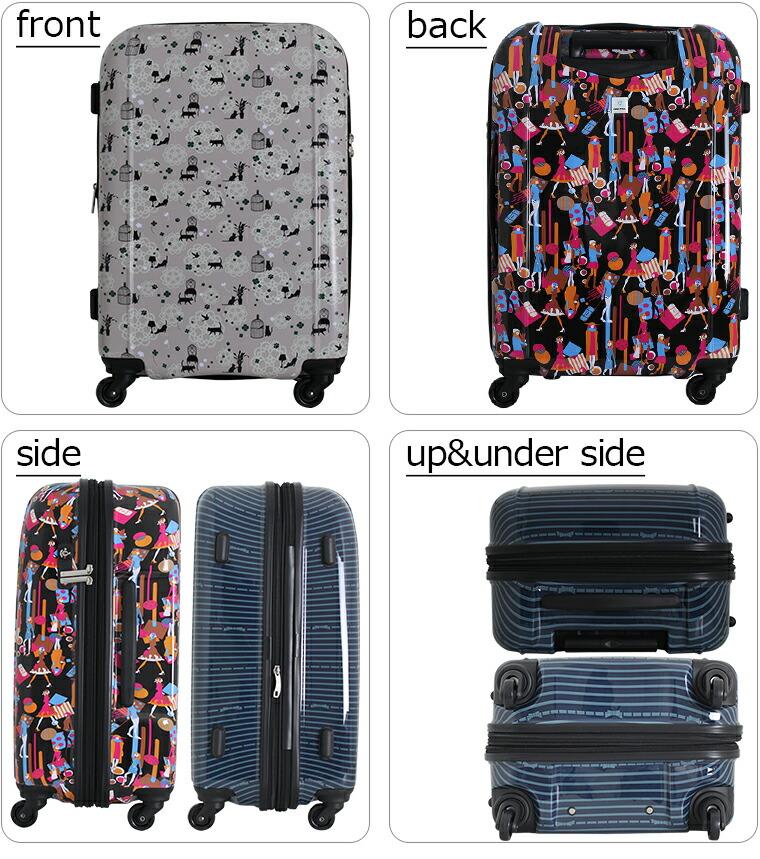 前後左右 上下 スーツケースの外観