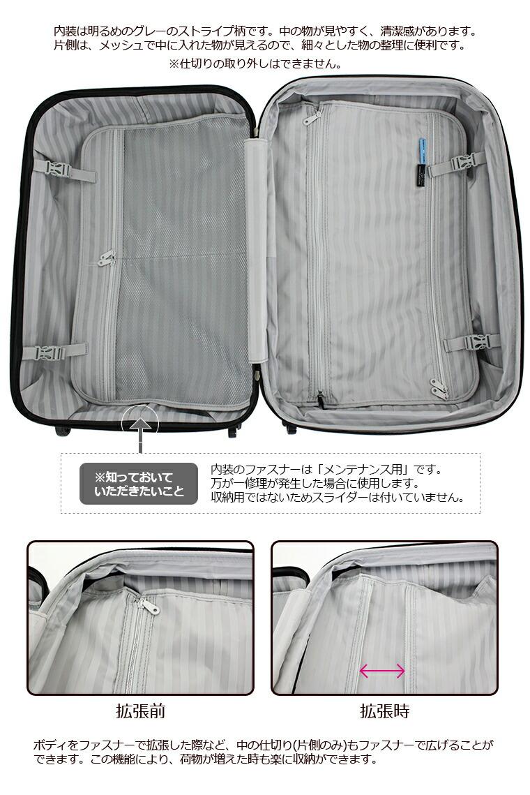 ミッフィーのインサイド 内装 内側 スーツケースの中 バックル ポーチ ポケット