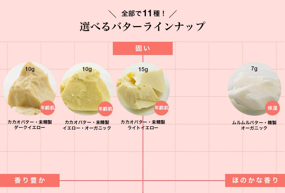選べるバターラインナップ