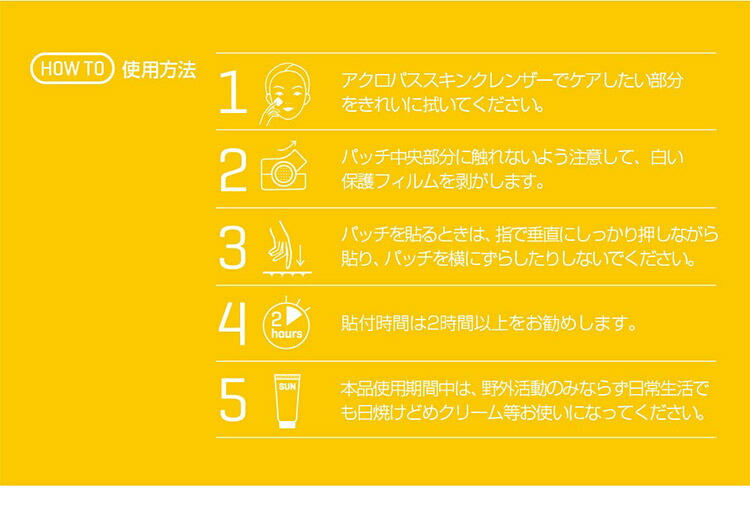 美肌マスク ヒアルロン酸パッチ+クレンザー 各6個 パック Y204