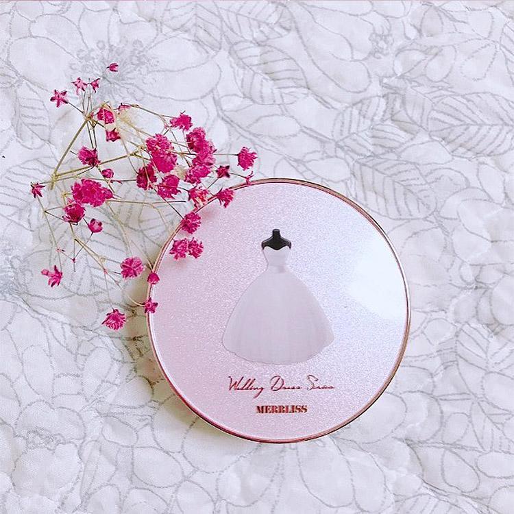 化粧品 MERBLISS モルブリス ツヤ 保湿でカバー力 ウェディングブーケウォーターカバークッション 韓国コスメ Y398