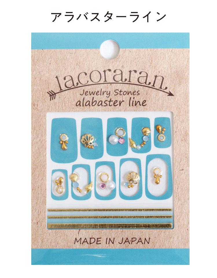 爪 lacoraran ラコララン JewelyStonesネイルシール 水にも強く柔軟性 貼るだけでサロンの仕上がり ネイルアート Y403