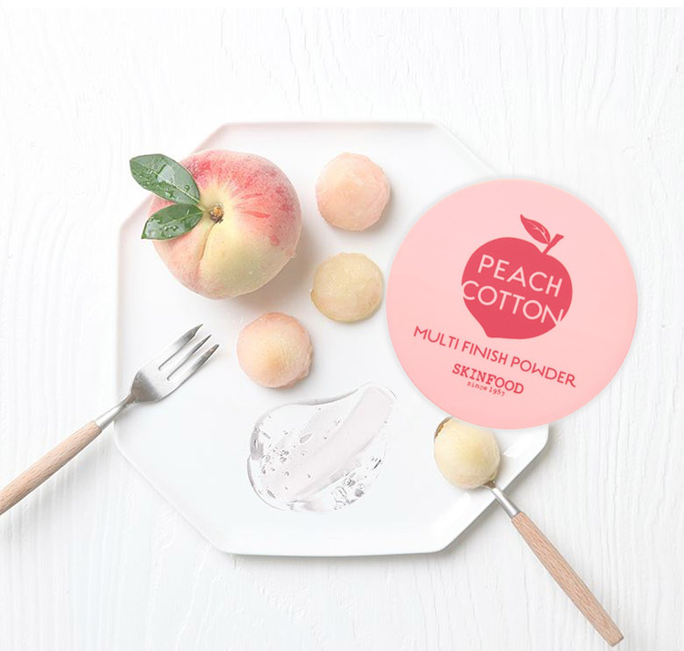 美肌 SKINFOOD スキンフード うるさら桃パウダー ピーチコットンマルチフィニッシュパウダー 韓国コスメ 化粧品 Y455