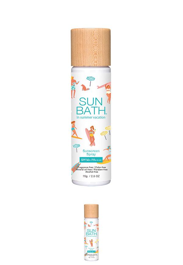 スプレー SUNBATH サンバス 髪やメイクの上から使える サンスクリーンスプレー〈SPF50+ PA++++〉70g 日焼け止め Y544