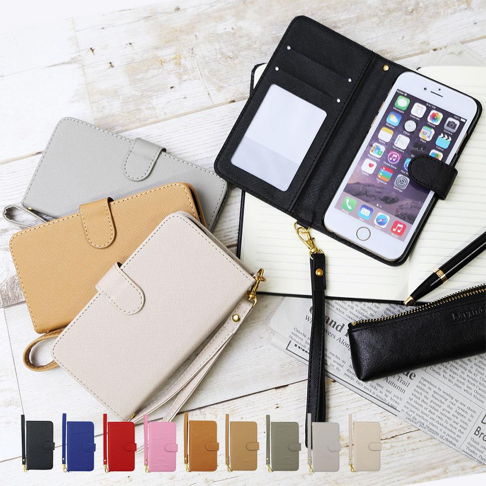スマホケース 手帳型 全機種対応 サフィアーノレザー調 手帳 ケース カバー レザー スマホケース 手帳型 全機種対応 iphone7 iphone6s xperia xz so-01j compact so-02j sov34