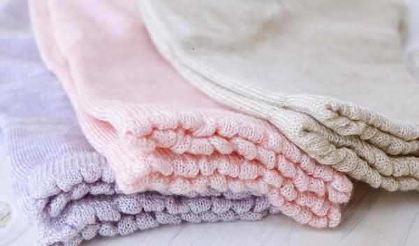 ゆったり編みのおやすみソックス