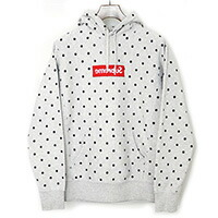 Supreme×COMME des GARCONS SHIRT 12SS Box Logo Hoodie 反転ボックスロゴドットパーカー
