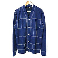 COMME des GARCONS HOMME DEUX 16AW ポリエステルジャージパッチワークカーディガン
