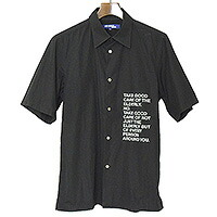 JUNYA WATANABE COMME des GARCONS MAN 01SS TAKE GOOD CAREプリントショートスリーブシャツ