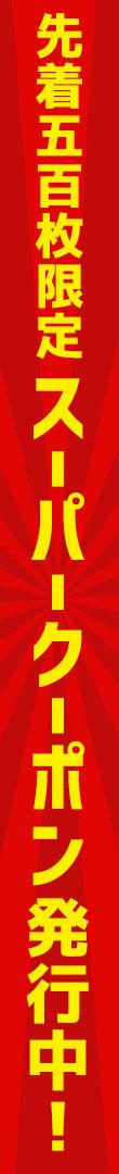 【お買い逃し救済企画】2種類のスーパークーポン発行中!【先着500枚限定】6月23日(金)19時〜6月26日(月)9時59分まで