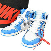 NIKE×OFF WHITE AIR JORDAN 1 RETRO HIGH NRG POEDER BLUE