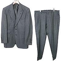 シルク混ウールセットアップ スーツ