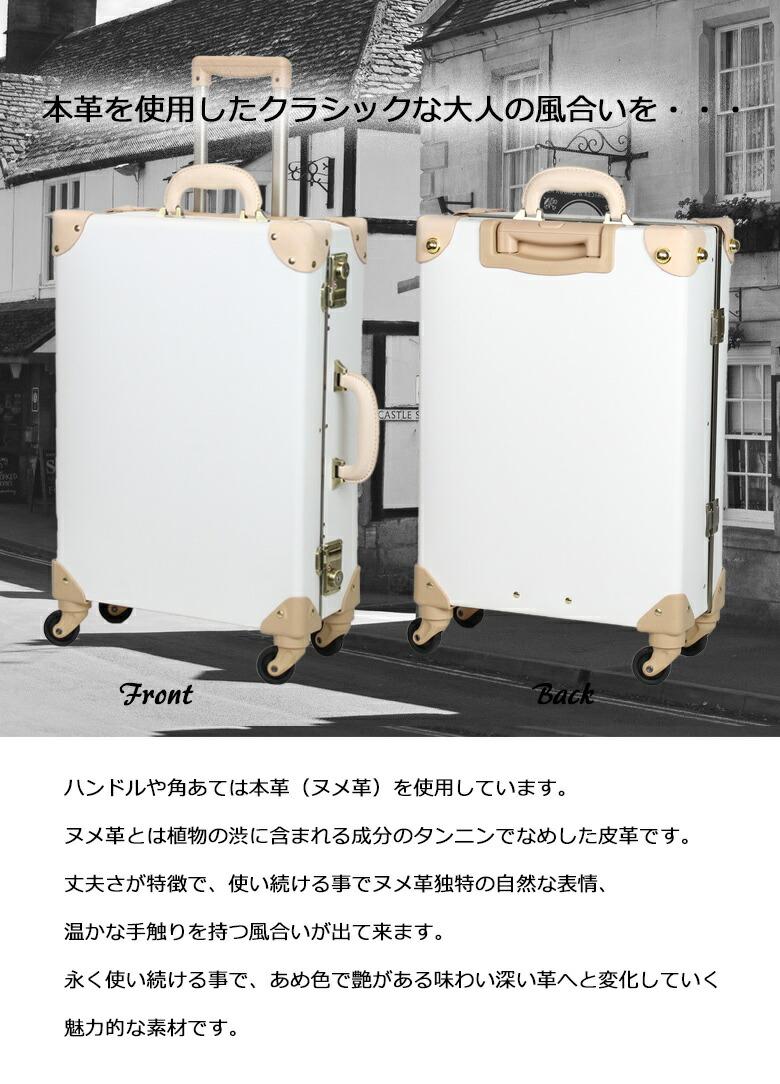 キャリートランクケース ヌメ革を使用した大人スタイル ビジネスに最適