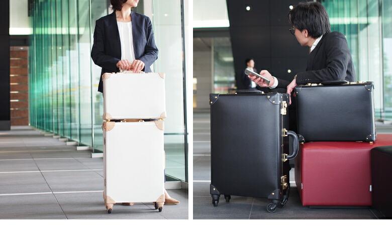 男性、女性問わず使える高級感あふれるスーツケース