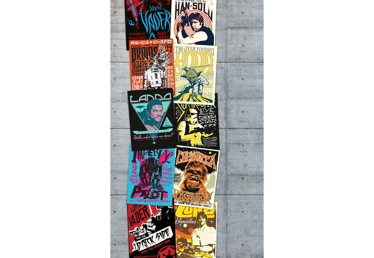 楽天市場 ディズニー ドイツ製壁紙 Vd 021 Star Wars Rock On Wall