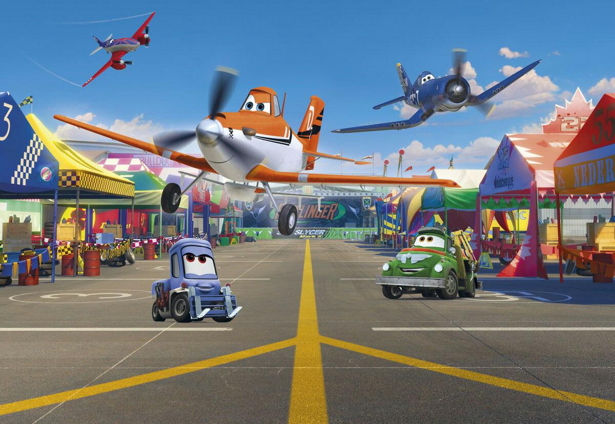 楽天市場 ディズニー ドイツ製壁紙 1 474 Planes Pit Stop 即納可