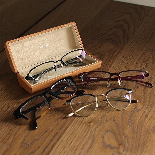 木製メガネケースに収納できるメガネの目安