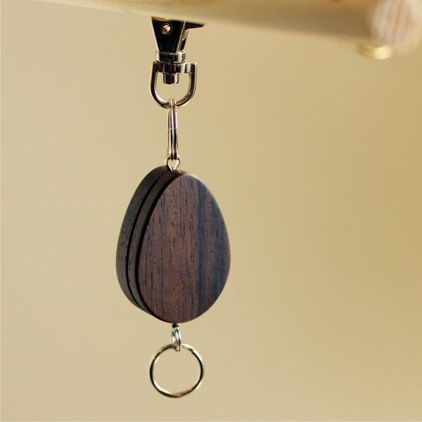 おしゃれなローズウッドの木製リールホルダーです。