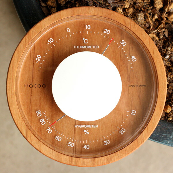 温度計と湿度計がひと目で分かりやすい表示板