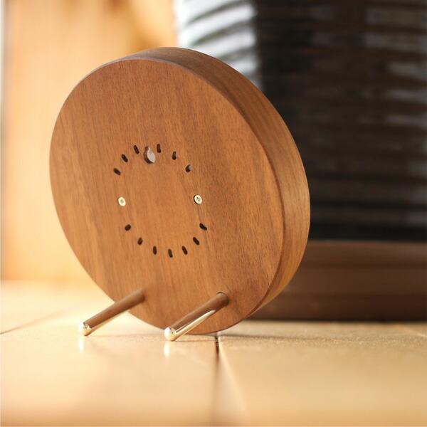 天然木を削りだしたおしゃれなアナログ温度計・湿度計