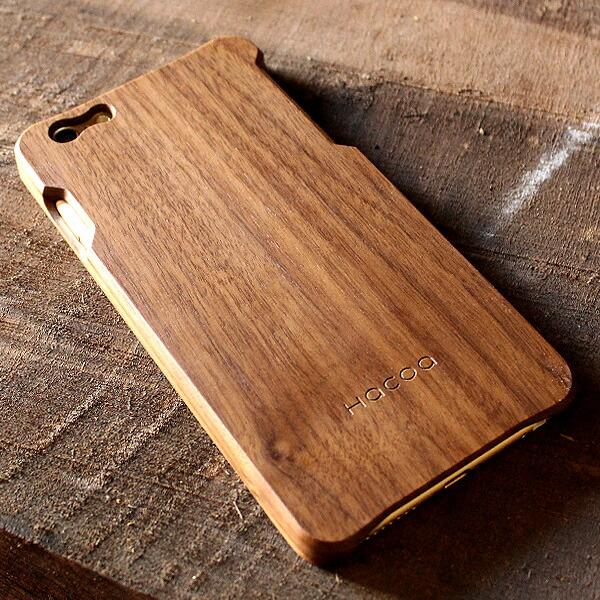手作り感を活かした無垢のiPhone6Plus用木製アイフォンケース