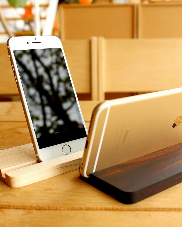 iPhone6/7専用木製スタンド、Hacoaの木製iPhoneケースにも対応