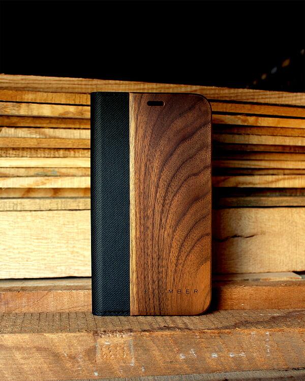 手帳型の木製スマートフォンケース iPhoneX専用