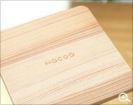 北欧風のデザインの木製コースター