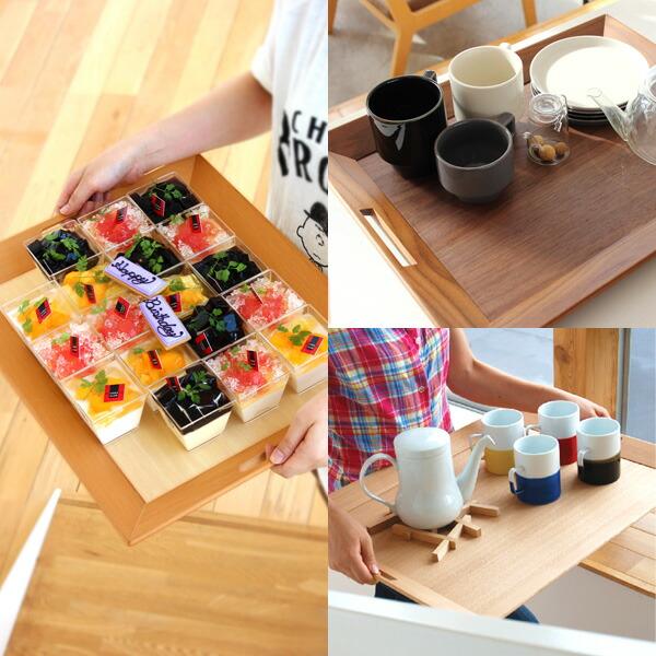 カフェのように使える木製食器トレイ