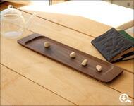 カトラリーとして優雅に使える木製のロングトレー