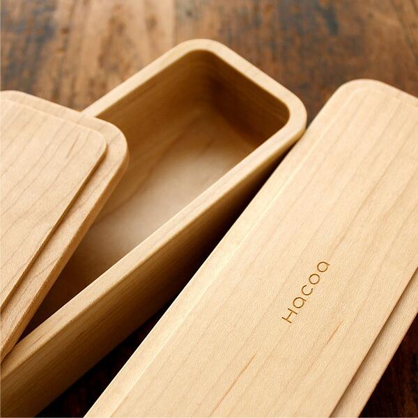 曲げわっぱや組み物の弁当箱とは違い、内側に曲面がついているので洗いやすく丈夫なお弁当箱です。