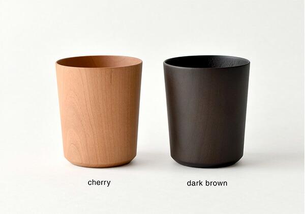 チェリー材のコップ、容量からお選び頂けます。